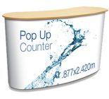 Pop Up Counter With Trolley & Graphic - From £249.00
